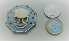 ~ Wretched Skull geocoin Skeloton Pirate 3D 2T Unactivated