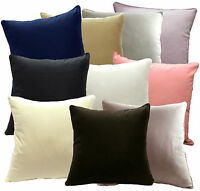 Soft Pure Cotton Fabric Plain Solid Color Cushion Cover/ Pillow Case Custom Size