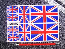 Union Jack Stickers Decals GB Set Rally Prep Motorsport Motorbike Great Britain