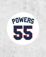 Kenny Powers Shirt Number Sticker! baseball, Eastbound and down, Danny McBride