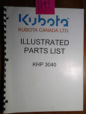 Kubota Khp3040 Cold Water Power Washer Illustrated Parts List Manual 398