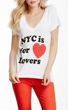 Wildfox NYC Is For Lovers Clean White Tee Sz XS NWT