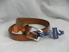New CROFT & BARROW mens 46-48 Camel Faux Leather Belt NICKLE Buckle FATHERS Dad