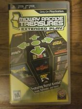 PSP Midway Arcade Treasures extended play case w/ manual book only no game