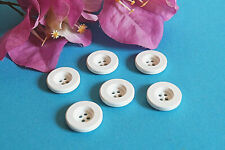 """151BISC / Chequerboard Big Buttons """" Deauville """" Set Of 6 Buttons Ép. 1960/70"""