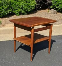 Jens Risom T-490 Floating Top Table  End Table with Shelf UN-Restored !!!