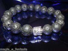 Bracciale pietra lavica  8mm BUDDA TIBET Black Lava Rock Stone Crystal Bracelet