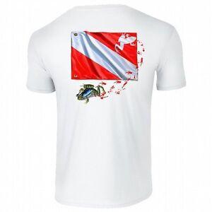 Amphibious Outfitters T-Shirt - Frog Flag - White - Scuba - D0041W