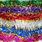 2m Chunky Thick Christmas Xmas Tinsel Red Blue Silver Gold Pink Purple