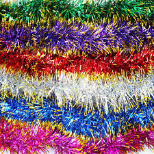 2m Chunky Thick Christmas Xmas Tinsel Red Blue Pink Purple low price offer