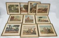 LOT OF 10 WILLEM LEENDERT VAN DIJK FRAMED ENGRAVINGS