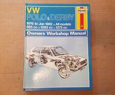VW POLO & DERBY MK1 HAYNES MANUAL 1976 to 1982  N L LS LX GLS S GL BASIC