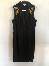 Altuzarra for Target Black and Gold Crane Dress in EUC Size Women's 8