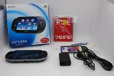 [Excellent+5] PS Vita Console Crystal Black PCH-1100 3G Wi-Fi w/ Charger Box