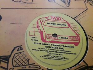 """Black Uhuru , Guess Who Is Coming To Dinner , 12"""" Taxi"""