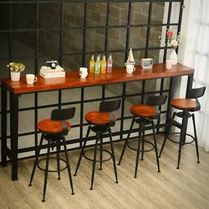 1x Breakfast Bar Stools Seat Industrial Retro Vintage Kitchen Dining Chair Xmas