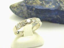 Halb Memoire Brillant Ring 585 Gold Gr 57 Weißgold 14 Karat Halbmemoire Goldring