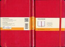 Moleskine Ruled Notebook (Carnet ligne) Red hardcover 240 pages acid-free 13x21