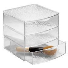 NEW InterDesign Vanity Organizer 3 Drawer Box  Large Clear FREE SHIPPING