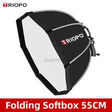 TRIOPO 55cm Octagon Softbox Bracket Mount Handle for Godox Speedlite Flash