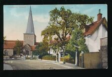 Surrey GODALMING Church and street c1920/30s? PPC by Valentine