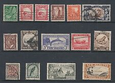 NEW ZEALAND:  1935-36 Pictorials set SG 556/69 used including both 1d Dies.