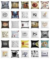 Movie Theater Throw Pillow Cases Cushion Covers Ambesonne Accent Decor 8 Sizes