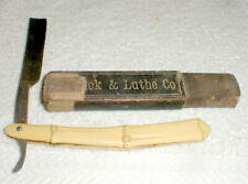 Rare Antique Straight Razor Patrick & Luthe Co Special Celluloid Handle With Box