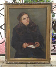Oil Painting Portrait of a Woman I.Gorovoy Ukraine USSR 1960