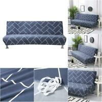 Stretch Sofa Bed Cover Full Folding Armless Elastic Futon Slipcover Couch Cover