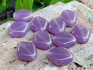 Vintage Translucent Purple 12mm Czech Glass Beads DIY Jewelry Making