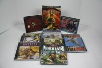 Lot Of 11 PC Games- Everquest 2, Riven, Rama, Jet Fighter Full Burn, WW2 Normand