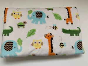 Circo Safari Jungle Zoo Animals Baby Blanket Yellow Sherpa Giraffe Elephant Owl