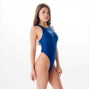 REALISE Circular hole swimsuit Navy Size LL Thong-back From Japan