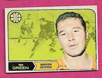 1968-69 OPC # 4 BRUINS TED GREEN FAIR  CARD  (INV# C4171)