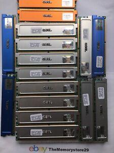 Job Lot 13 x 1 GB  3 x 512mb GEIL DDR2 / DDR1 Memory RAM  DIMM PC RAM