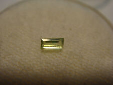 Peridot Baguette Cut Gemstone 4 mm x 2 mm 0.10 Carat Natural Gem