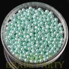 New 100pcs 4mm Round Glass Pearl Loose Spacer Beads Jewelry Making Baby Blue