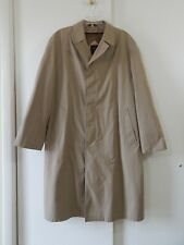 mens brown HART SCHAFFNER MARX trench coat overcoat removable liner long 44L 44