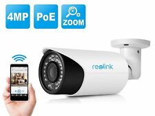 Reolink RLC-411 Waterproof 4MP HD PoE IP Security Camera with 4X Varifocal
