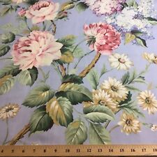 "1 yard x 54"" Vervain Garden Vine Floral Blue Home Decorator Fabric"