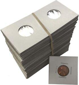 Penny Cent 2x2 Coin Cardboard Mylar Flips Holders Bundle of 100 Cowen's Premium