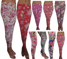 Leggings 34 36 42 44 46 48 50 52 Blumen Muster Leggins Hose Übergröße Legings