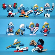 SET 2012 SCHLEICH - 10 Schtroumpfs JEUX OLYMPIQUES (Smurf Puffi Pitufo Olympic)
