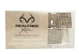 Realtree Shower Curtain Hooks Set of 12 Camo NEW
