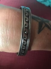 B Webb Sterling Silver Cuff Bracelet Native Navajo Engraved Waves Vintage 925