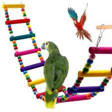 Swing Climb Wooden Bridge Ladder Cockatiel Parakeet Pet Budgie Parrot Bird Toys