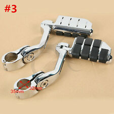 "1 1/4"" Engine Guard Mounts Clamps Highway Foot Pegs Footrest For Harley Davidson"