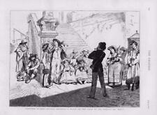 1873-antica stampa ITALIA ROMA TRINITA DE MONTI ARTISTI passi modello (87)