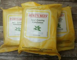 Burt's Bees Facial Cleansing Towelettes - Normal Skin - 3 Packs x 30 Wipes